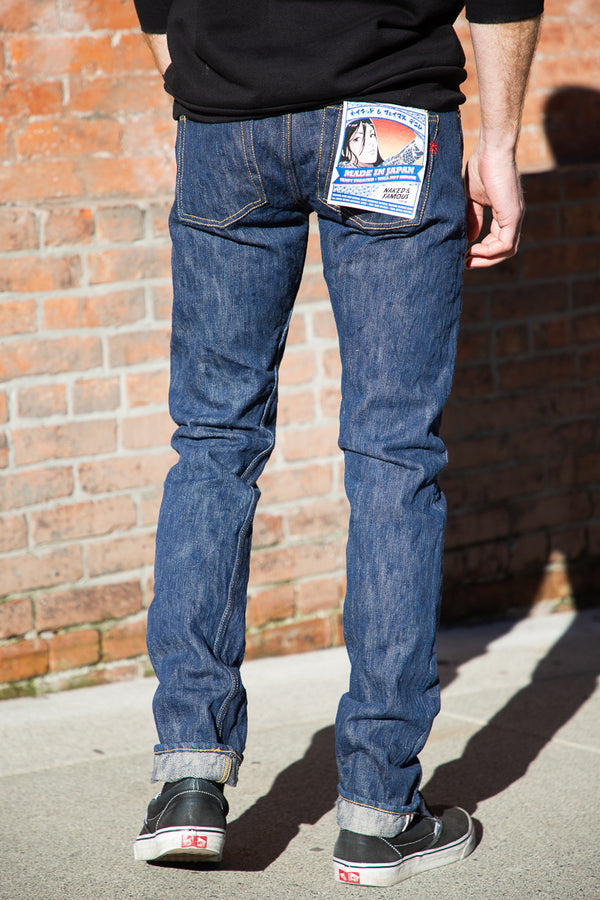 Naked & Famous Super Guy - MIJ8 Intangible Culture Treasure Hand Dyed Natural Indigo Big Slub Selvedge
