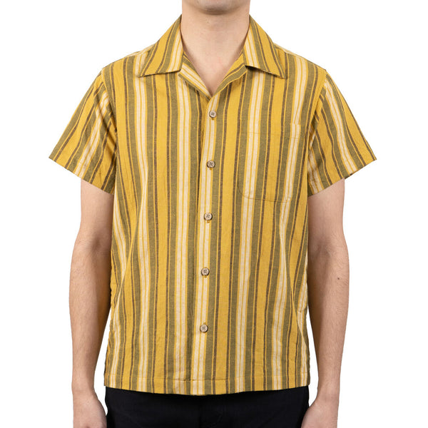 Naked & Famous Aloha Shirt - Sahara Stripe Yellow