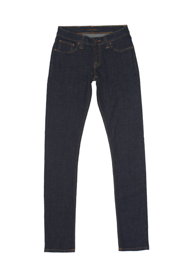 Nudie Tight Long John - Organic Twill Rinsed - Dutil Denim