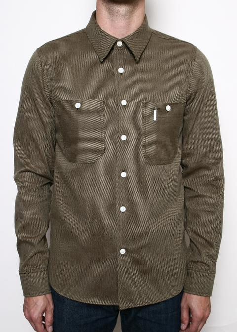 Rogue Territory BM Work Shirt - Brown Sashiko