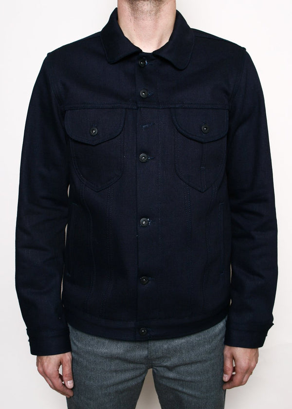 Rogue Territory Type III Jacket - Double Indigo Slub Blanket Lined
