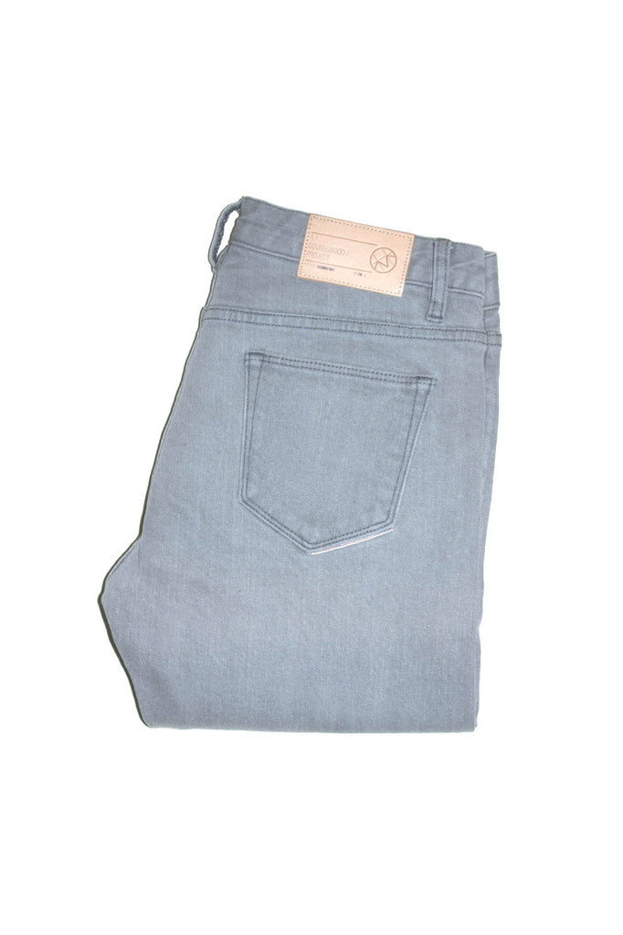 Doublewood - Skinny Grey Bleached Jeans & Apparel - Dutil Denim