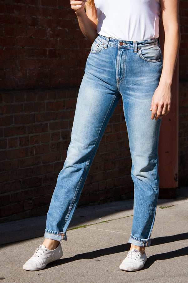 Nudie Breezy Britt - Worn Stone Jeans & Apparel - Dutil Denim