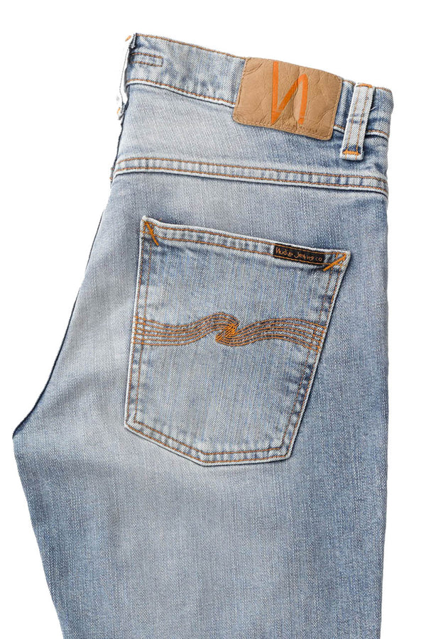 Nudie Grim Tim - Light Blue Comfort - Dutil Denim