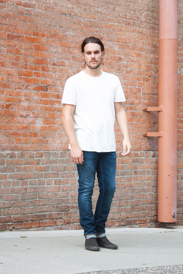 Nudie Lean Dean - Dark Deep Worn Jeans & Apparel - Dutil Denim