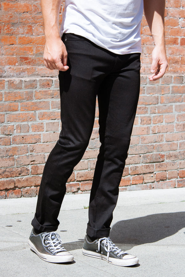Nudie Lean Dean - Dry Cold Black Jeans & Apparel - Dutil Denim