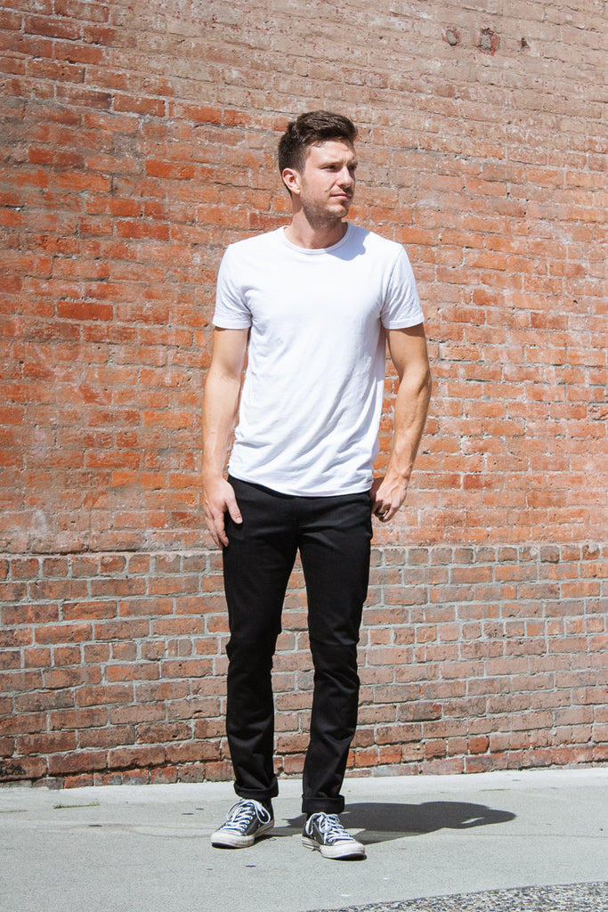 "Nudie Lean Dean - Dry Cold Black 36"" Jeans & Apparel - Dutil Denim"