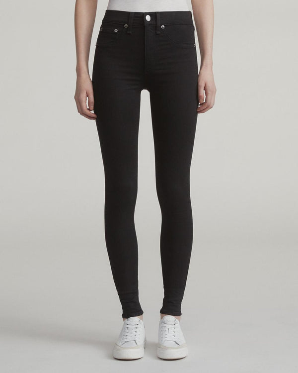 Rag & Bone High Rise Skinny - Black Jeans & Apparel - Dutil Denim
