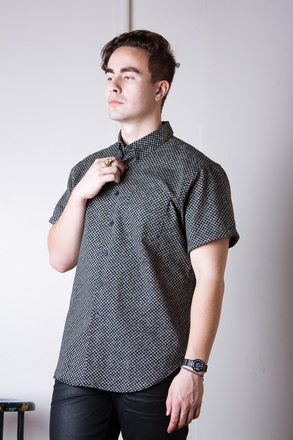Naked & Famous Short Sleeved Easy Shirt - Kimono Scales