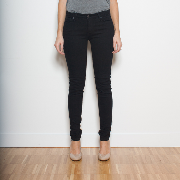 Dutil Quintessential Mid-Rise Skinny - Black Overdye Jeans & Apparel - Dutil Denim
