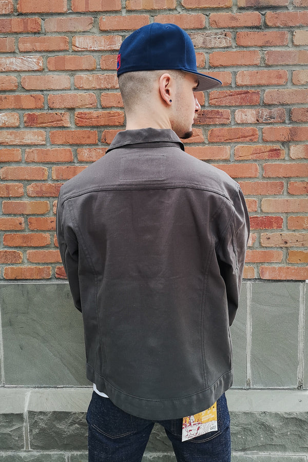 Naked & Famous Denim Jacket - Blackened Steel Duck Canvas