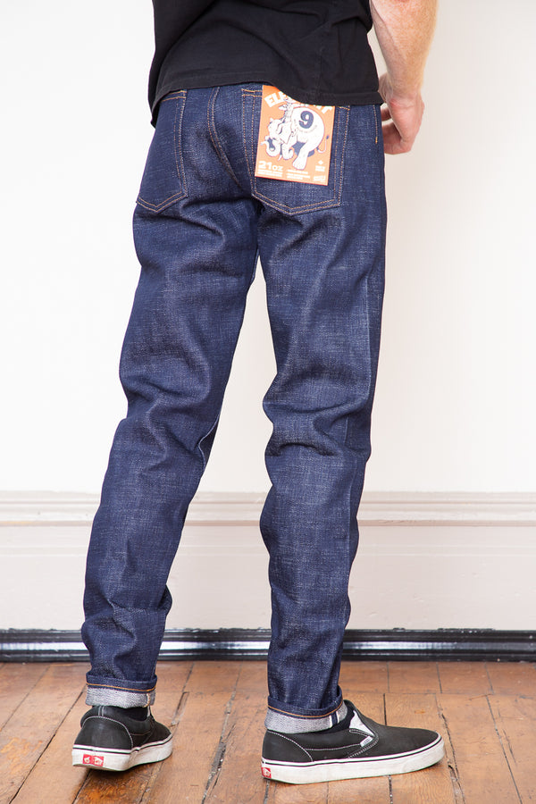 Naked & Famous Easy Guy - Elephant 9 - Wild Blue Selvedge