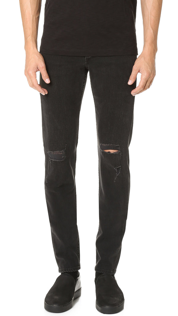 Rag & Bone Fit 1 Skinny Jean - Black Holes - Dutil Denim