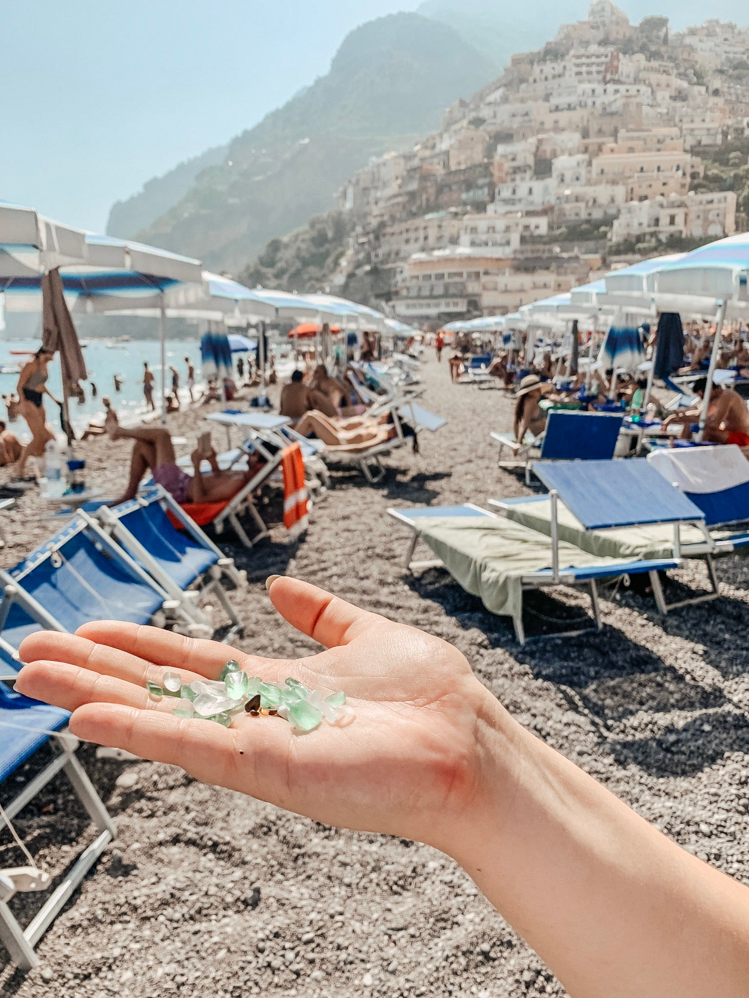 Positano in Soft Blue Marble + White