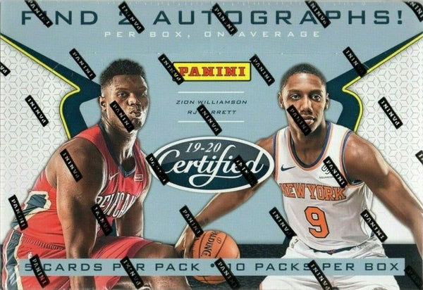 2019-20 Panini Certified Basketball Hobby Box