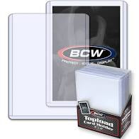 BCW Standard Card Toploader Holders (25 Count Pack)