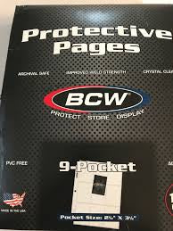 BCW 9-Pocket Protective Pages (100 Count Box)