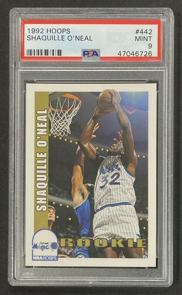 1992-93 Hoops #442 Shaquille O'Neal RC PSA 9