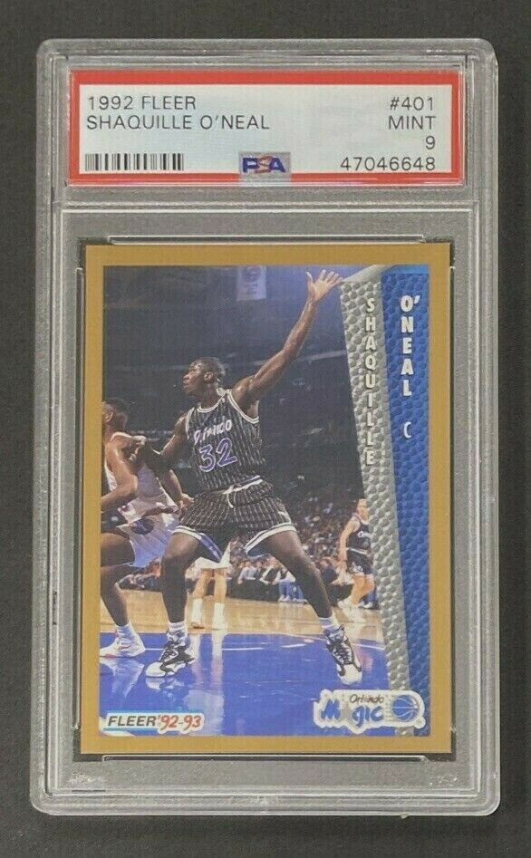 1992-93 Fleer #401 Shaquille O'Neal RC PSA 9