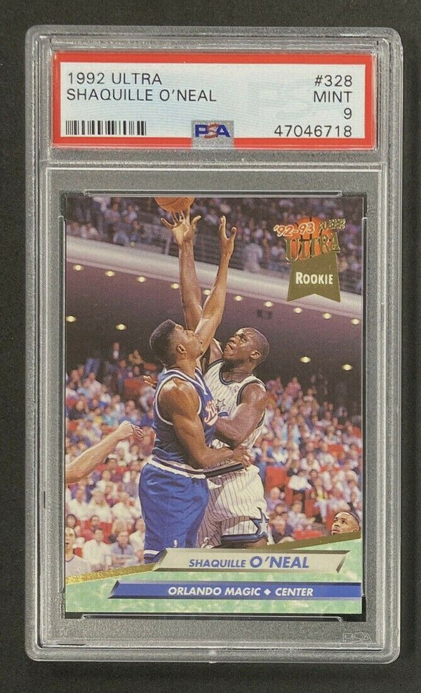 1992-93 Ultra #328 Shaquille O'Neal RC PSA 9