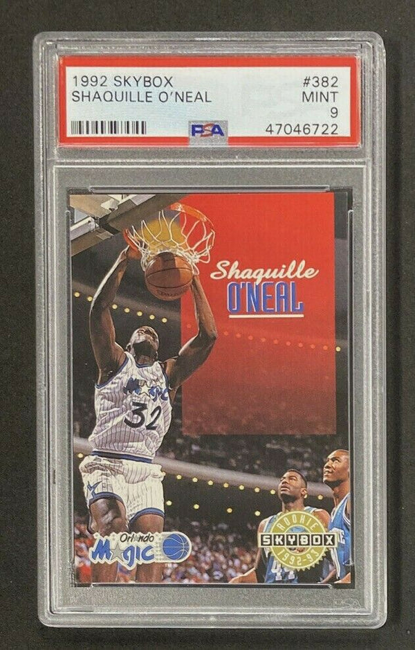 1992-93 Skybox #382 Shaquille O'Neal RC PSA 9