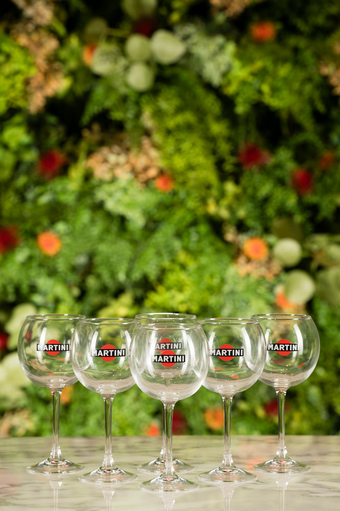MARTINI BALLOON GLASS 6 glasses - AVAILABLE ONLY FOR PICKUP AT MARTINI SHOP, PESSIONE