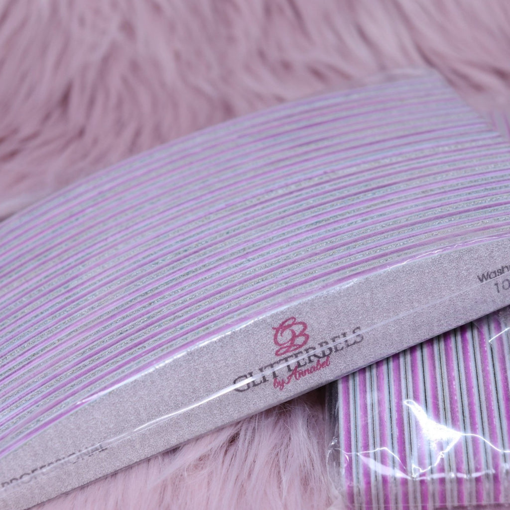 Glitterbels nail files: pack of 20 - The Nail Throne USA