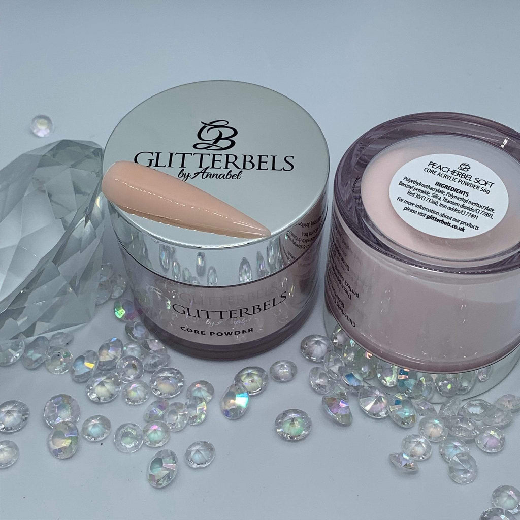 Glitterbels Peacherbel Soft 56g - The Nail Throne USA