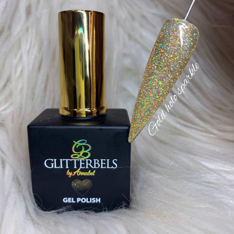 Gold Holo Sparkle 17ml - The Nail Throne USA