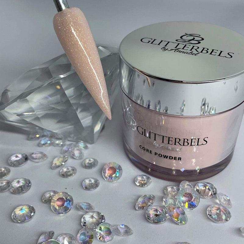 Glitterbels Peacherbel Cover Shimmer 56g - The Nail Throne USA