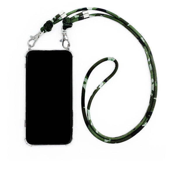 Camouflage Twist Phone Necklace