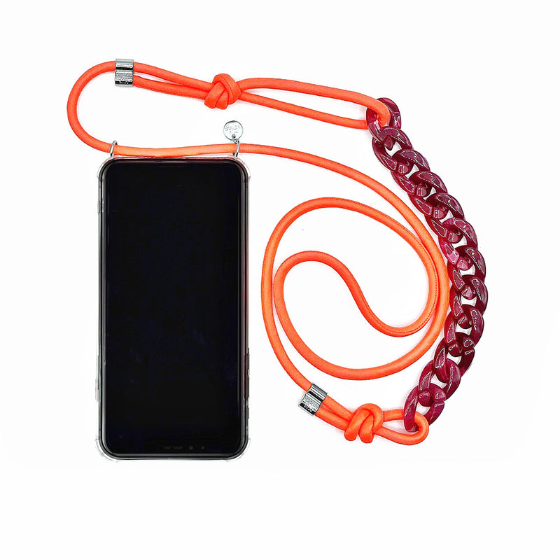 Neon case with chain