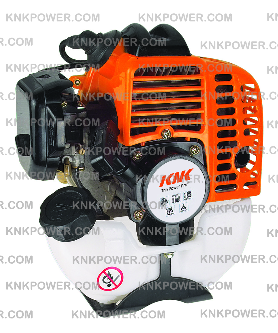 KM1E34F 2 Stroke 25.4CC GASOLINE ENGINE Displacement: 25.4cc 34x28mm Max power: 0.75kw 1.1HP Fuel consumption:≤740g kwh Fuel tank: 0.75L N.W.:2.7kgs packing:27x24x30cm 20'FCL:2000PCS