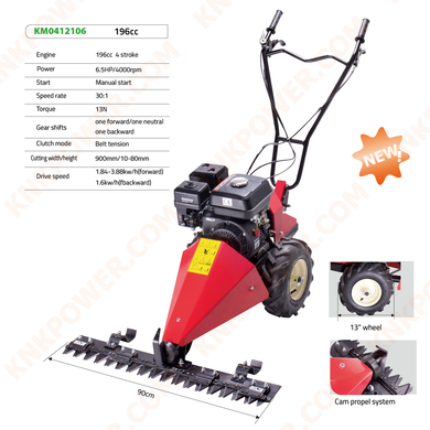 KM0412106 196CC LAWN MOWER Engine: 196CC 4 Stroke Power: 6.5HP 4000RPM