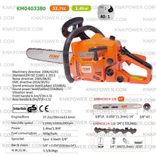 Load image into Gallery viewer, KM0403380 37.2CC GASOLINE CHAIN SAW