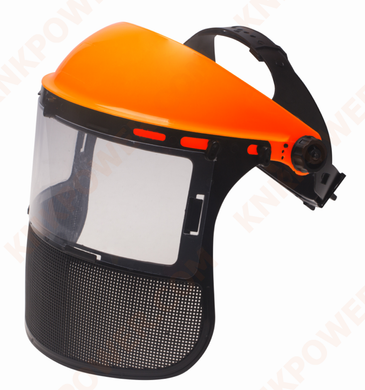 knkpower [16451] FACE SHIELD WITH plastic mesh +PC lens