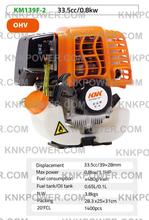 Load image into Gallery viewer, KM139F-2 33.5CC 4 STROKE GASOLINE ENGINE