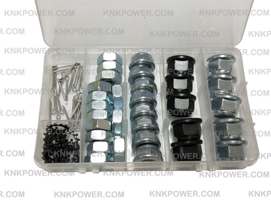 59.4K-01 GEAR CASE NUT KIT FS120 M10*1.0 5pcs FS450 M12*1.5 5PCS NUT M10*1.25 8pcs Lock NUT M10*1.25 14PCS Wsher 14pcs Split Cotter Pin 14pcs