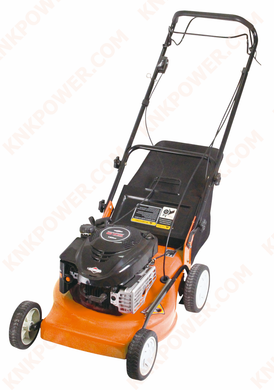 KM0412218 190CC LAWN MOWER Engine:190cc B&S 675E Cutting height:18-78mm 8 positions Cutting width:530mm 21inch Grass bag capacity:75L