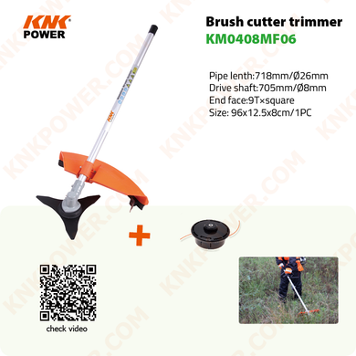 KM0408MF06 GRASS TRIMMER ATTACHMENT N.W G.W: 2.0 2.5kgs Packing: 84x23x12cm 1pc 20FCL: 1200PCS