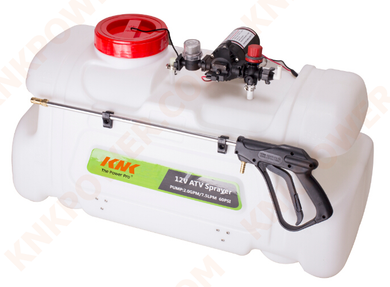 KM0407ATV100 WATER PRESSURE PUMP PROFESSIONAL GRADE PUMP OPEN FLOW:7.5LPM 2.0GPM VOLTS:12V AMPS:9.0A MAX. PRESS SETTING:60PSI 4.1BAR