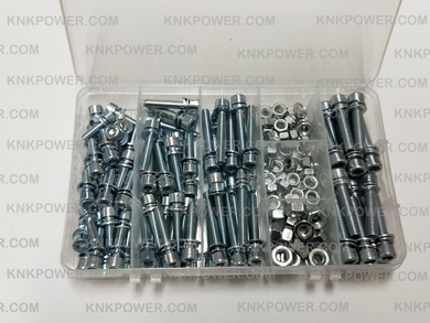 05-SNK-01 SCREW AND NUT KIT M5*10 30pcs M5*20 30pcs M5*30 30pcs M6*25 20pcs M5 NUT 50pcs M6 NUT 30pcs