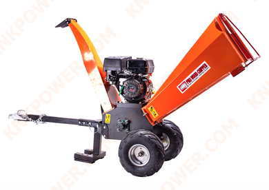 KM0421389PRO 407CC SHREDDER CHIPPER ENGINE: 15HP (KMG420) Belt:2PCS V-belt Blade lenght:150mm Wheel:4.10 3.5-4 G.w N.w:105kgs 90kgs Packing:1800*800*1150MM 20'FCL:18PCS