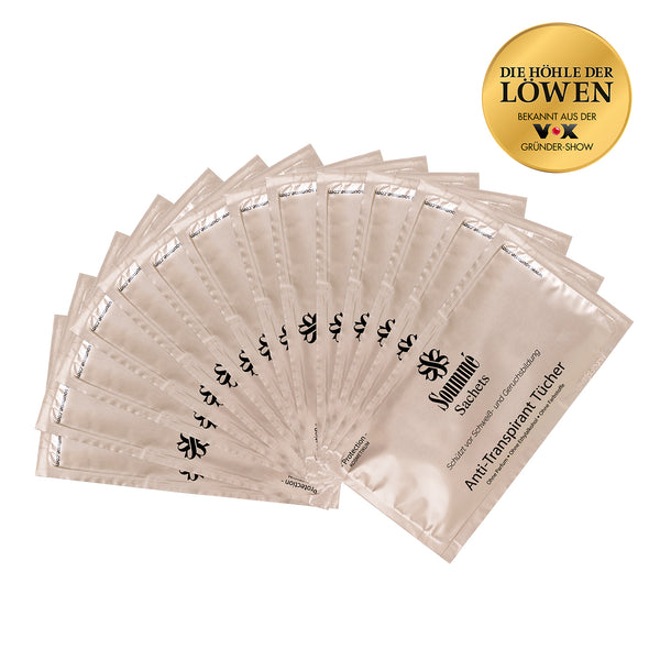 14 Soummé Antitranspirant Protection Sachets / Tücher for Woman gegen Schwitzen
