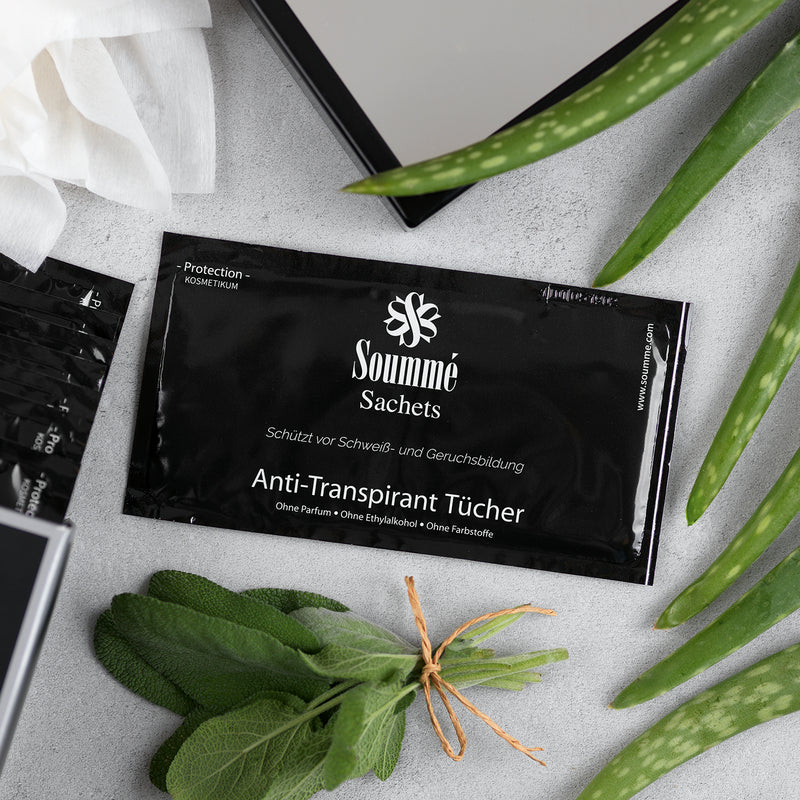 14 Soummé Antitranspirant Protection Sachets / Tücher for Men gegen Schwitzen
