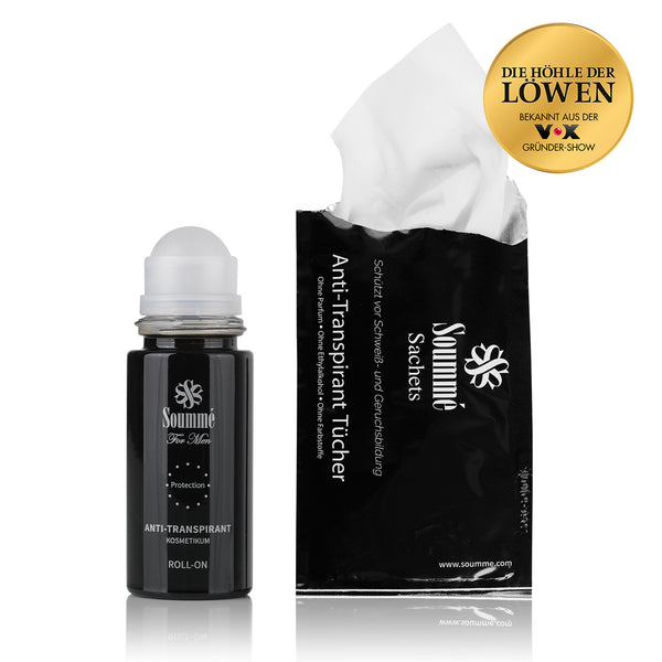Antitranspirant Protection Roll-On/Sachets for Men 50 ml/14 Tücher 8,5 ml je Tuch (119 ml) - Kosmetikum