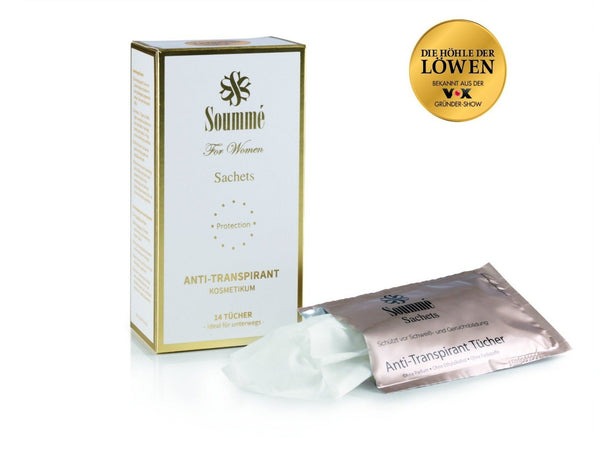 Antitranspirant Protection Sachets/ Tücher for Women 14 Stück - 8,5 ml je Tuch (119 ml) - Kosmetikum