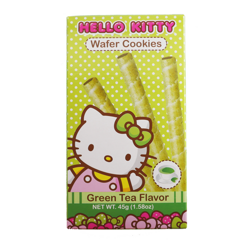HELLO KITTY Wafer Cookies Green Tea Flavor 45g