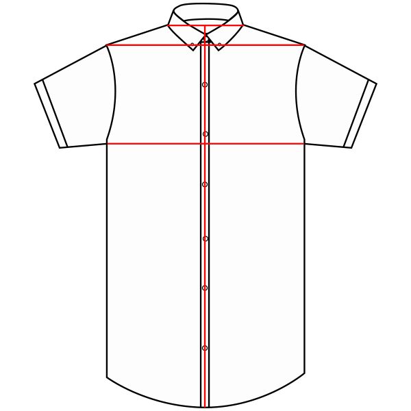 Size Chart Mens Short Sleeve Shirt