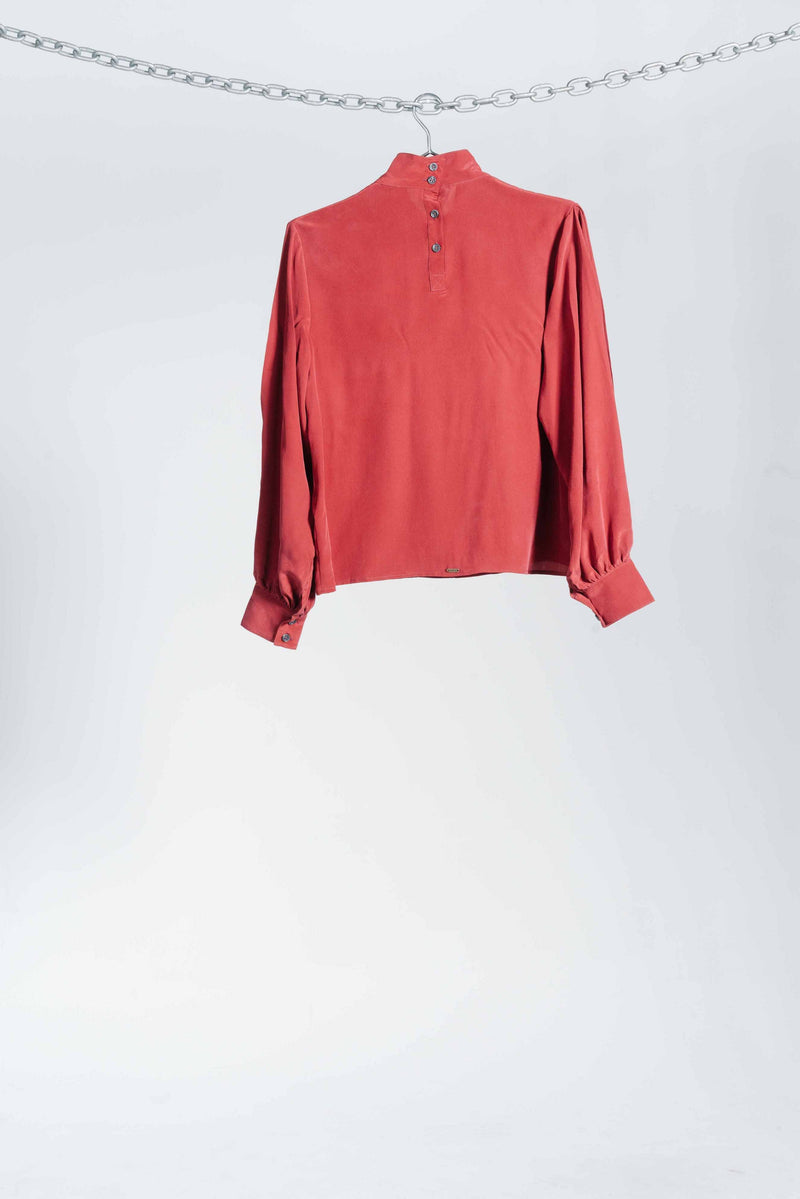 Serena Blouse - Ruby Red